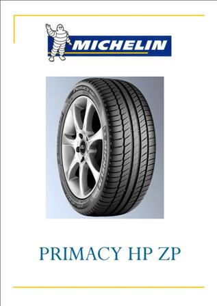 064521 gomma michelin 275/35r 19 primacy hp zp tl ´*´ 96 y