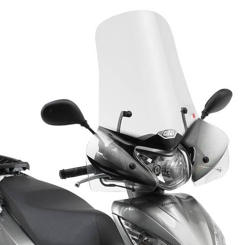 1128A 131 PARABREZZA VISIERA SCHERMO CUPOLINO PARAVENTO GIVI COMPATIBILE CON HONDA SH 125 150 i ABS 2016 MOTO SCOOTER