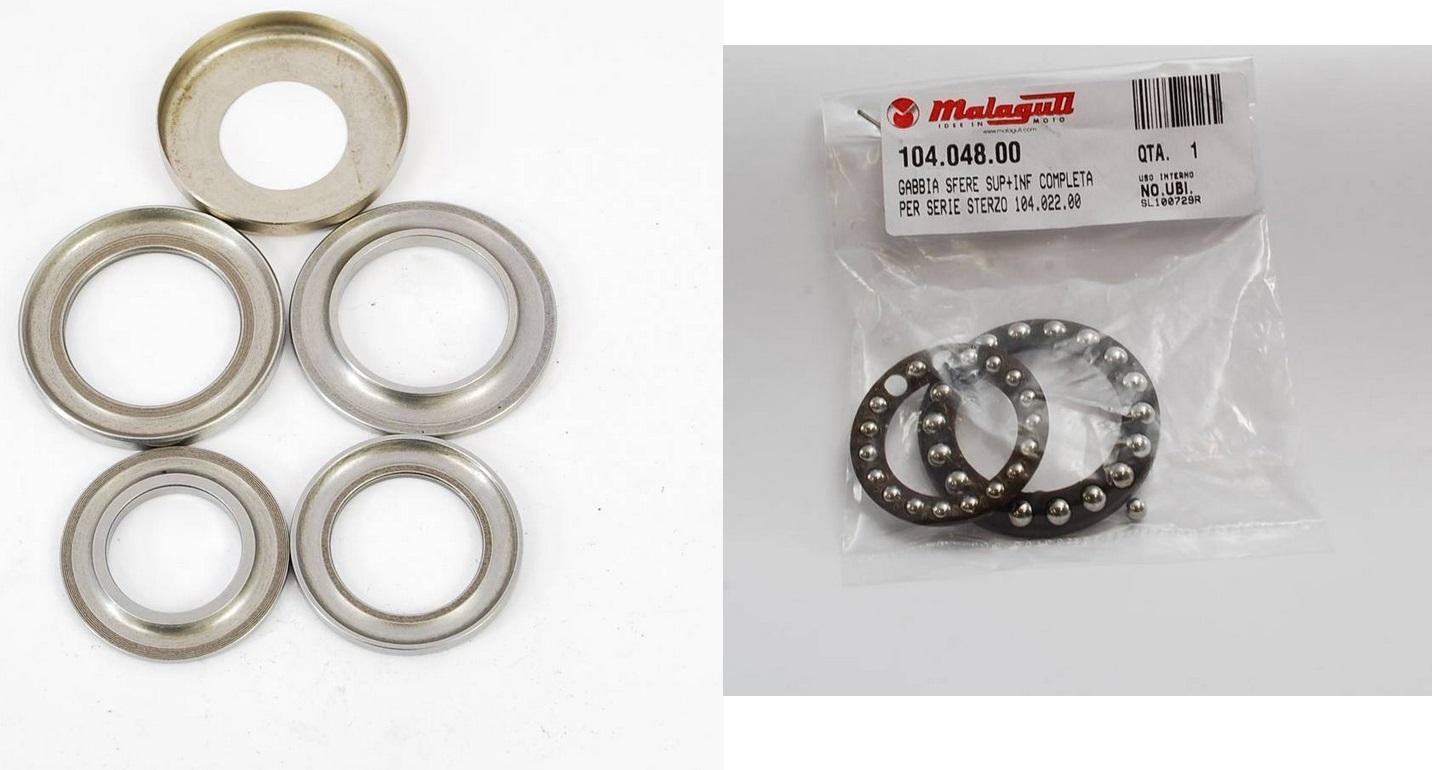 adatto per Yamaha YZF R6/98/ /10 incluso della tappi antipolvere Pyramid Parts coni ruolo cuscinetti sterzo