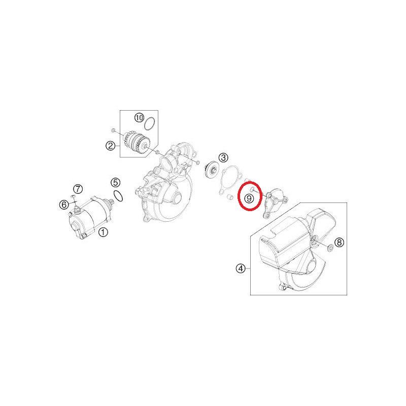Pignone di avviamento per Peugeot Speedfight 1 2 AC LC
